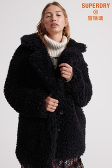 Superdry Chester Faux Fur Teddy Coat