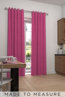 Made To Measure Fuchsia Soft Velour Curtains