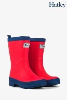 Hatley Red Matte Rain Boots