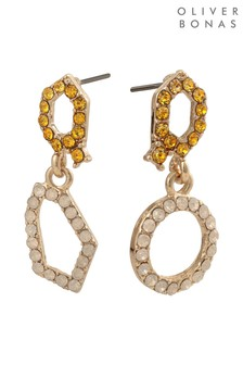 Oliver Bonas Anastella Mini Cubic Drop Earrings