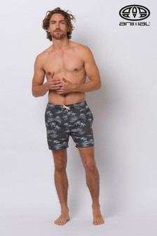 Animal Black Del Sur Elasticated Board Shorts