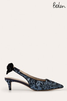 Boden Blue Antonia Slingbacks