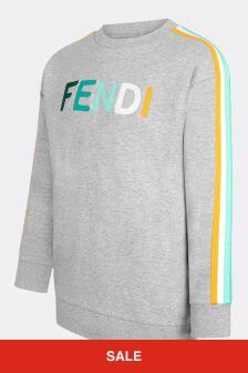 Fendi Kids Kids Grey Cotton Sweat Top