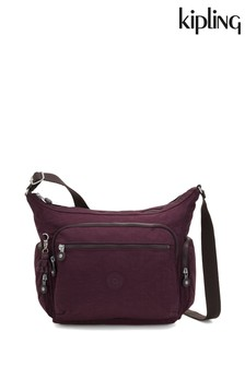 Kipling Dark Plum Medium Shoulder Bag
