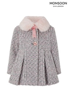 Monsoon Baby Tessie Tweed Coat