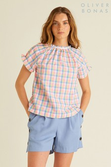 Oliver Bonas Mini Check Top
