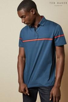 Ted Baker Blue Stripe Poloshirt