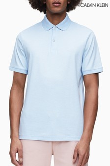 Calvin Klein Blue Soft Interlock Slim Fit Polo