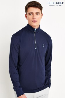 Polo Golf by Ralph Lauren Navy Lightweight Zip Neck Top