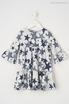 Angel & Rocket Grey Tiered Star Dress
