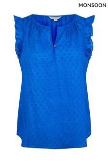 Monsoon Blue Organic Cotton Dobby Top