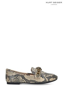 Kurt Geiger Ladies Snake Print Chelsea Loafers