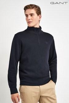 GANT Sacker Rib Half Zip Sweater