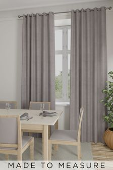 Made To Measure Mauve Soft Velour Curtains