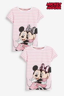 Disney Minnie Mouse T-Shirt White Girls Kids 2-10 Years