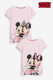 Minnie Mouse™ & Mickey Mouse™ Licence 3D Sequin T-Shirt (3-16yrs)