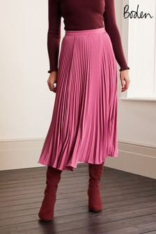 Boden Pink Kristen Pleated Skirt