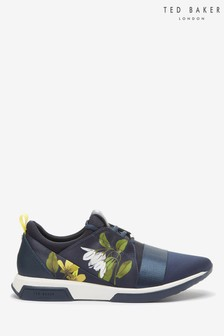Ted Baker Navy Floral Trainers
