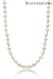 Beaverbrooks 9ct White Gold Freshwater Pearl Necklace