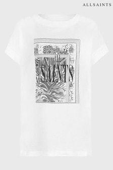 AllSaints Scarf Logo Print T-Shirt