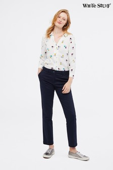 White Stuff Blue Sussex Cotton Trousers