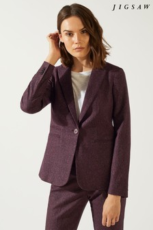 Jigsaw Plum Rose Donegal Heritage Jacket