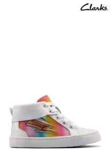 Clarks White Combi Lea City Myth T Boots