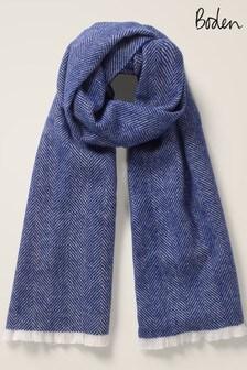 Niebieski szalik Boden w pepitkę