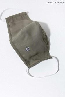 Mint Velvet Khaki Star Face Covering