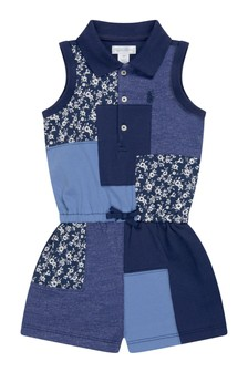 Baby Girls Patchwork Cotton Playsuit