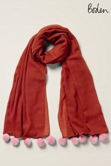 Boden粉色Pompom羊毛圍巾