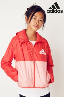 adidas Pink Colourblock Windbreaker Jacket