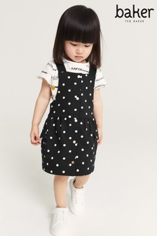 Baker by Ted Baker Dungaree Dress And T-Shirt Set