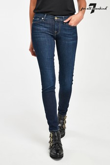 7 For All Mankind Indigo Skinny Full Length Jeans