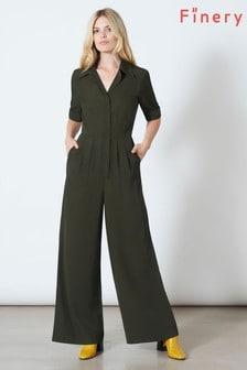 Finery London Green June Jumpsuit