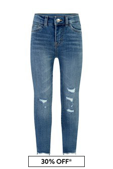 720™ Girls Blue Cotton High Rise Super Skinny Jeans