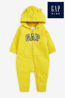 Gap Baby Embroidered Logo Rompersuit