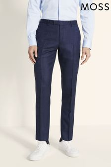 Moss London Blue Skinny Fit Blue Twisted Trouser