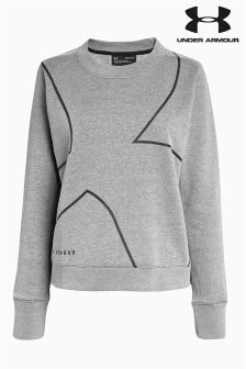 Under Armour Grey Favourites Fleece Crew