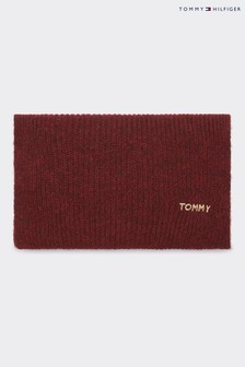 Tommy Hilfiger Red Branded Scarf