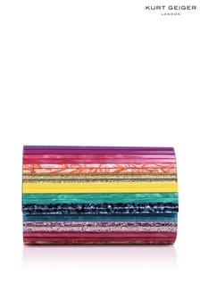 Kurt Geiger London Pink Party Envelope Clutch