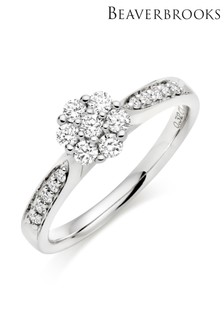Beaverbrooks Diamond Cluster Ring