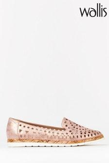 Wallis Bella Pink Lasercut Cork Loafers