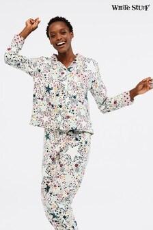 White Stuff Natural 'Tis The Season Pyjama Top