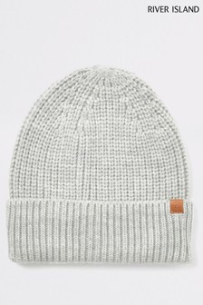 River Island Grey Fisherman Beanie