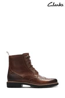 Clarks Tan Batcombe Lord Boot
