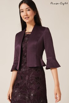 Phase Eight Purple Amanda Flared Cuff Jacket