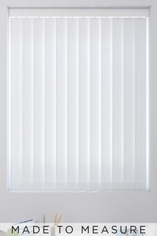 Herringbone White Made To Measure Vertical Blind