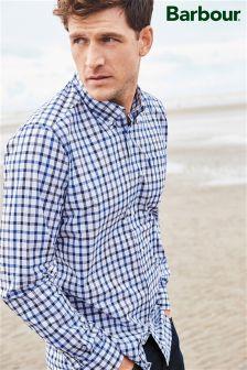 Barbour® Navy/White Check Mason Shirt