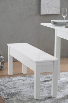 White Gloss Bench
